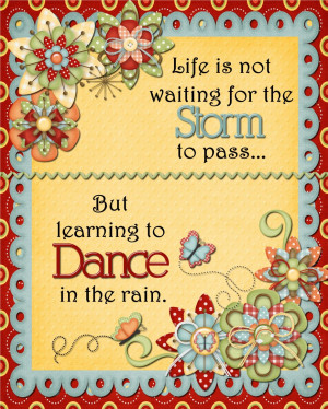Inspirational Dance Quotes About Life: Quote For The Day In Pink Polka ...