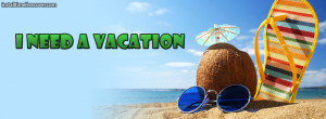 need a vacation coconut Facebook Cover Layout