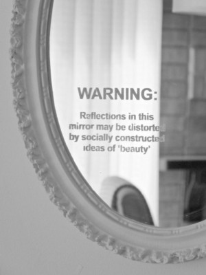 beauty quote Black and White depression hipster indie mirror society ...