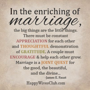 The Enriching of Marriage