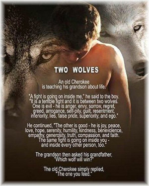 Cherokee Legend of Two Wolves