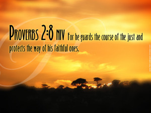 Proverbs 2:8 – He Guards and Protects Papel de Parede Imagem