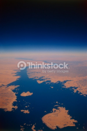 Nile river viewed from space : Foto de stock