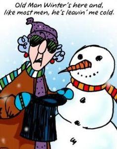 winter cartoon photo winter maxine old man cold snowman lol funny ...