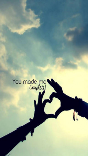 iPhone Wallpaper HD Love You Make Me Complete Quote Wallpaper 651 ...