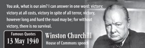 Famous Quotes – Victory – Winston Churchill
