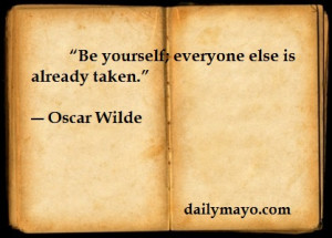 Quote: Oscar Wilde on Being Yourself