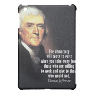 Thomas Jefferson Quote on Democracy iPad Mini Cases