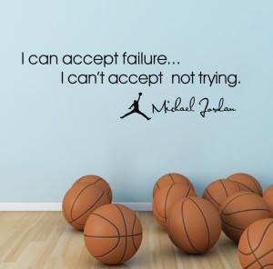 ... Jordan star Micheal Jordan quotes wall decals sports wall art(China