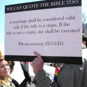 Atheists quote the bible.....incorrectly...totally paraphrased and out ...