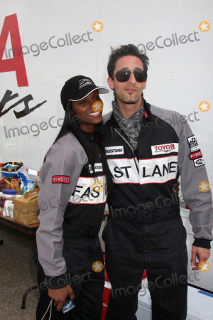 Tika Sumpter & Adrien Brodyat The Toyota Pro Celeb Race Training In