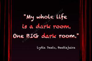 Tim Burton Beetlejuice Lydia Deetz Goth Quote Art 5x7 Framed ...