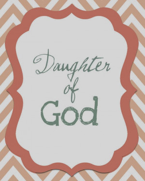 what does it mean to be a daughter of god
