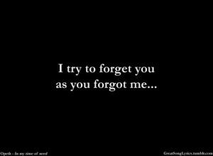 you forgot me | Tumblr