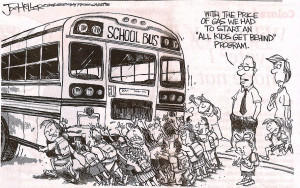 The lighter side of school bussing...