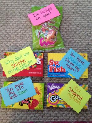 Sweet valentine candy sayings. #valentines #swedishfish #gum #nerds # ...