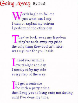 love quotes for your husband in jail