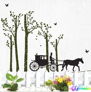 Jungle-Carriage-Tree-Wall-stickers-Wall-quotes-Decal-Removable-Art ...