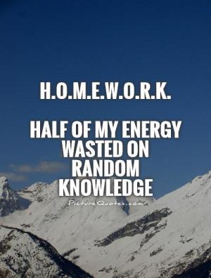 Quote on homework