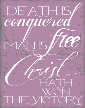 Easter Printable: Death is Conquered