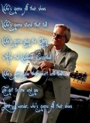 George Jones - He sang it so beautifully.