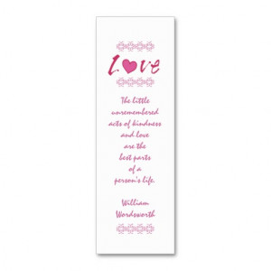 Pink Love Heart/ Mini-Bookmark+Quote Business Card Template