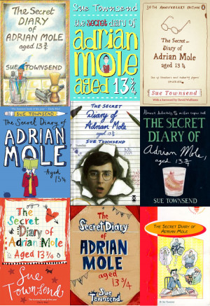 ... Secret Diary of Adrian Mole book covers over 30 years by Sue Townsend