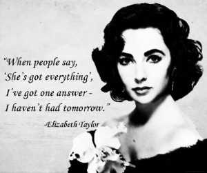 ICON AND STATE OF MIND ELIZABETH TAYLOR