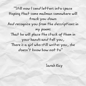 Sarah Kay - She is more than great.