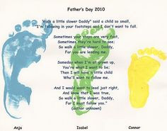 Father's day footprint craft with poem
