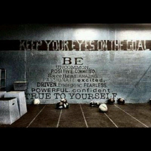 CrossFit motivation Totally would love to paint this on the wall at my ...