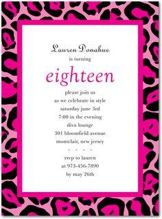 Teen Birthday Party Invitations