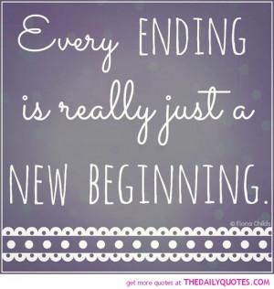 New Beginnings And Endings