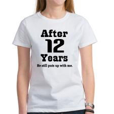 12th Anniversary Funny Quote Women's T-Shirt for