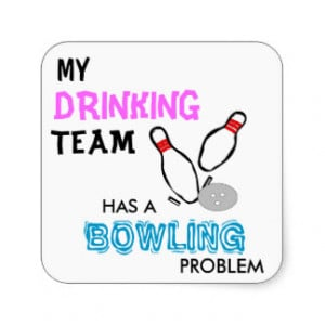 Bowling Drinking Team sticker