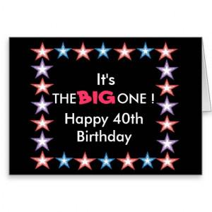 Happy 40th, Birthday card
