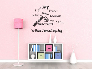 Details about Wall Decal Quote Sticker Vinyl Large Love Joy Peace ...