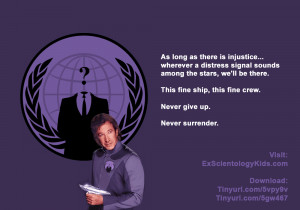 Galaxy Quest Graphic: Never Give up. Never Surrender