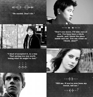 The Maze Runner Series Quotes by Minho, Chuck, Teresa and Newt. The ...
