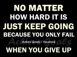 No matter how hard it is ..