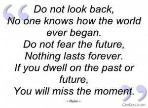do not look back rumi
