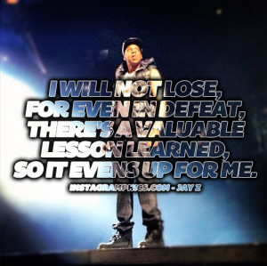 Will Not Lose Jay Z Quote Graphic