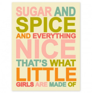 Sugar and Spice Would be cute for a little girls room, or the other ...