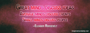 great minds discuss ideas quote facebook cover