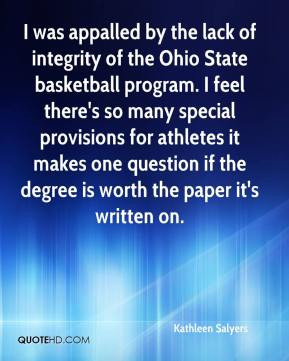 Kathleen Salyers - I was appalled by the lack of integrity of the Ohio ...