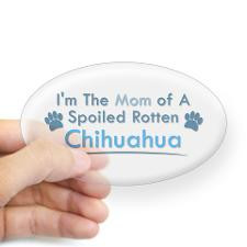 Spoiled Rotten Poodle Oval Sticker for