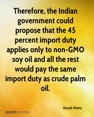 Therefore, the Indian government could propose that the 45 percent ...