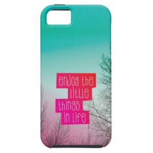 Enjoy little things quote text iphone case iPhone 5 cover