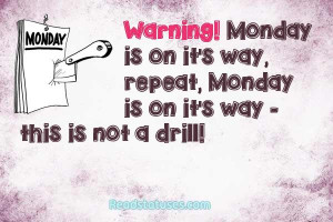 Monday facebook status pictures and images