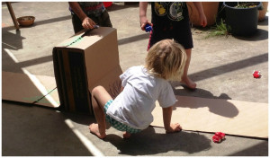 Cardboard boxes inspire creativity and imagination as they children ...